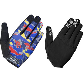 GripGrab Rebel Rugged Full Finger Gloves, blue camo